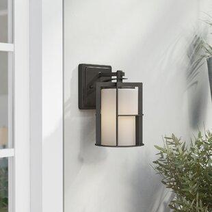Coupon Thomaston 1-Light Outdoor Wall Lantern By Red Barrel Studio