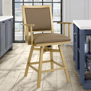 Follett 26 Swivel Bar Stool by Everly Quinn