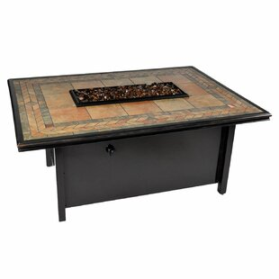 Tretco Panama Aluminum Propane Fire Pit Table