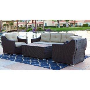 Leib 4 Piece Sofa Set with Cushion