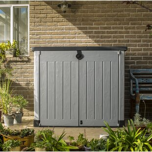 Store It Out Ace 5 Ft. W X 3 Ft. D Plastic Horizontal Garbage Shed By Keter