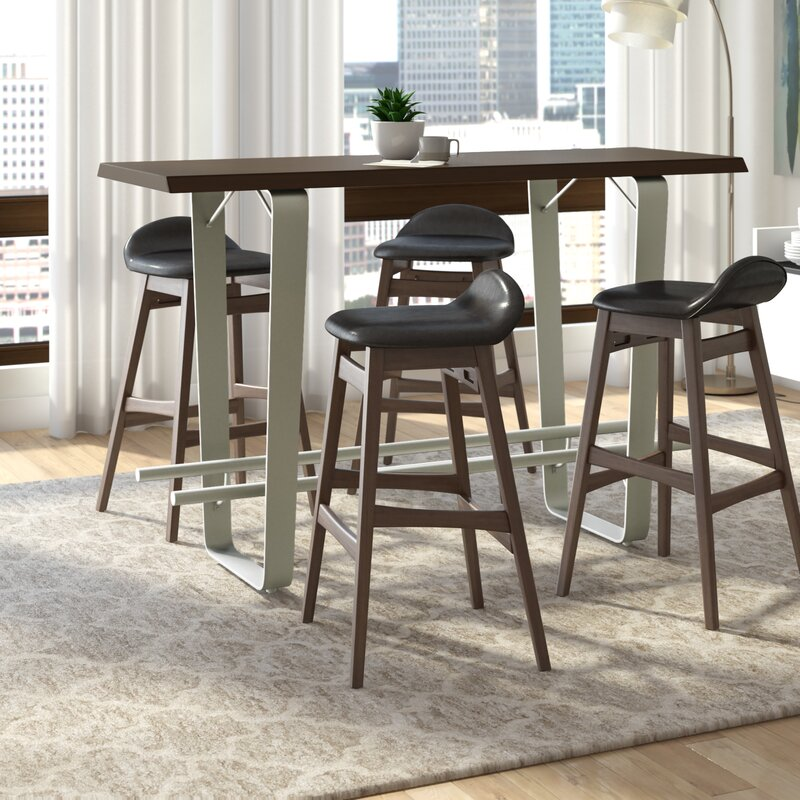 White Cane Outdoor Furniture, Ivy Bronx Koffler Counter Height Dining Table Wayfair