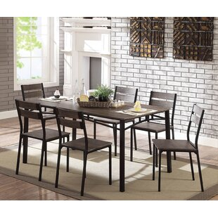 Brockway Wooden 7 Piece Counter Height Dining Table Set By Union Rustic  Coupon