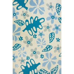 Order Islas Garden Party Hand-Hooked Beige/Blue Indoor/Outdoor Area Rug By Winston Porter