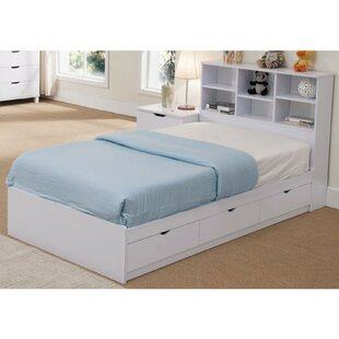 Divito Sophisticated Snow Twin Storage Platform Bed