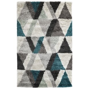 Affordable Price Bonham Triangle Gray/Black Area Rug By Wrought Studio