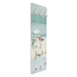 Sandbar In The Sea I Wall Mounted Coat Rack By Symple Stuff