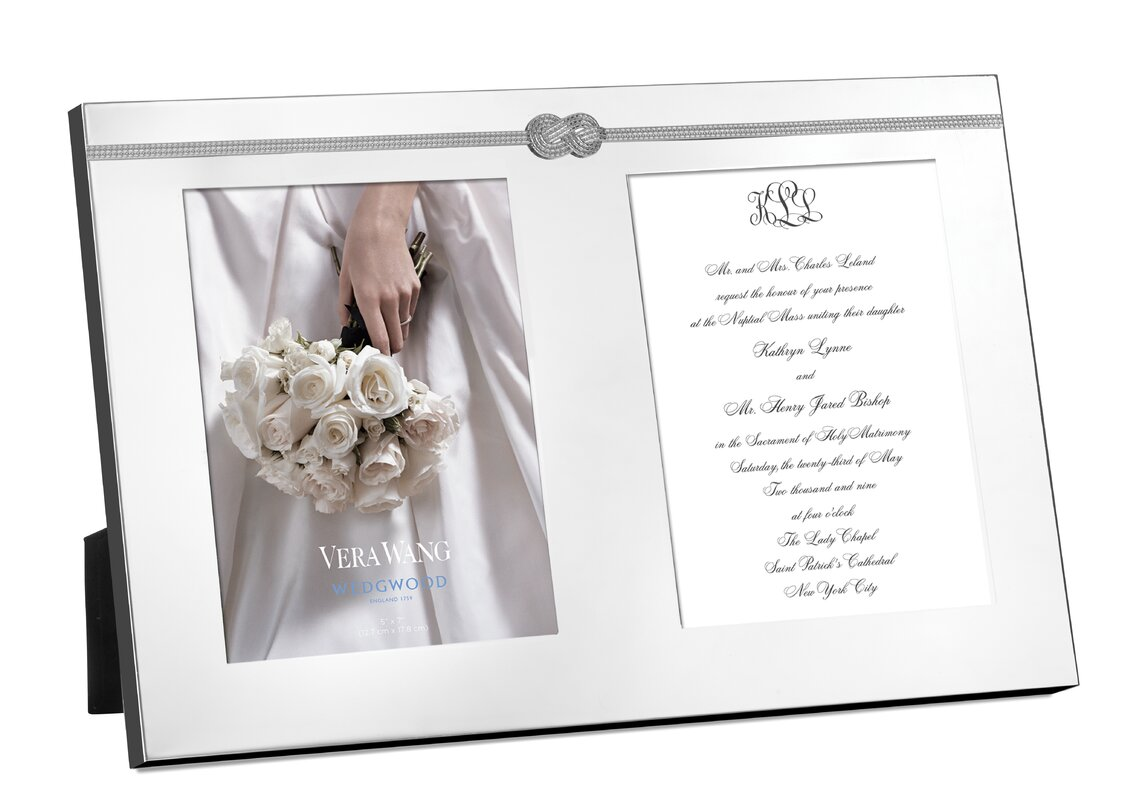 Vera wang infinity double invitation picture frame reviews wayfair infinity double invitation picture frame jeuxipadfo Image collections
