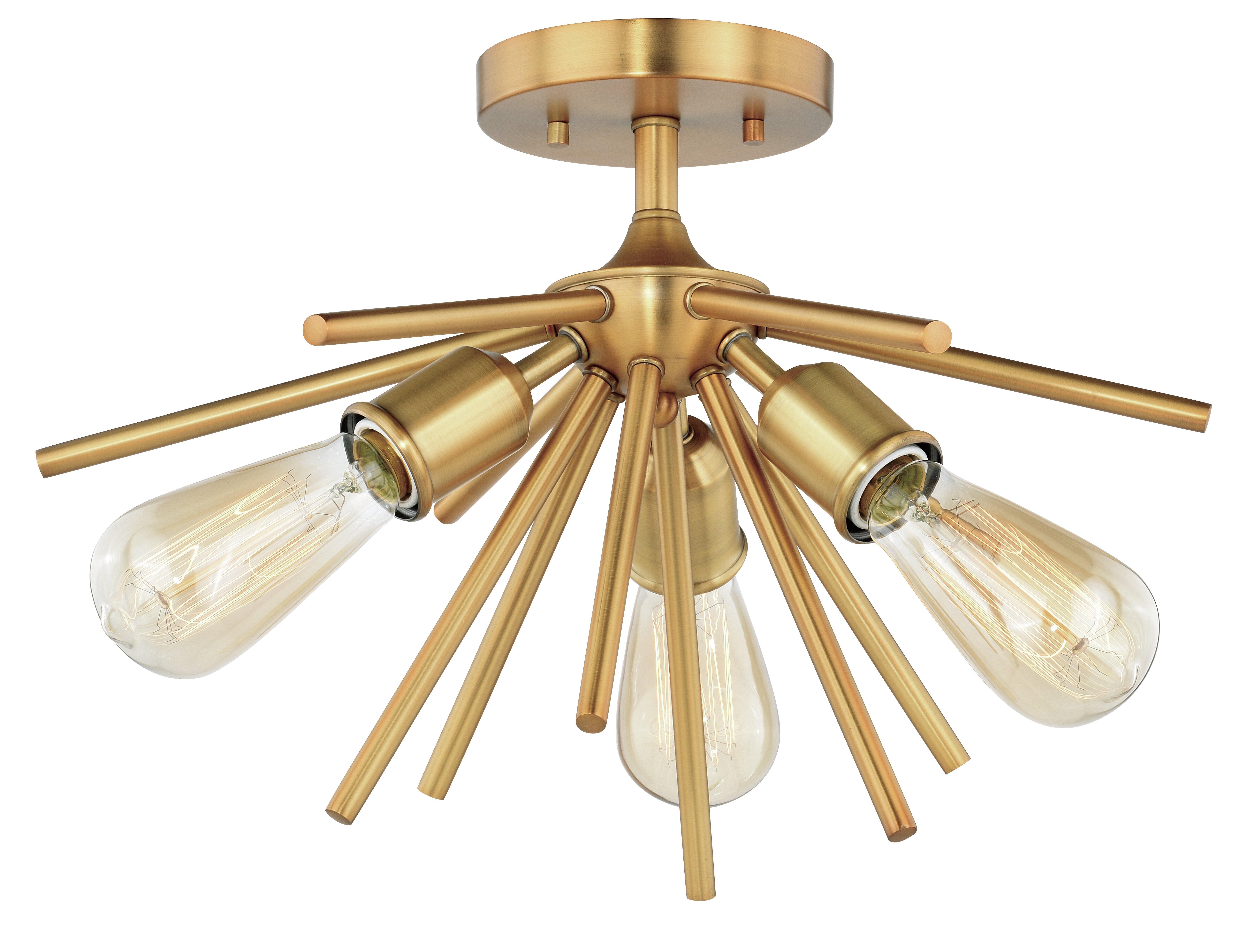 Latifa 3 Light 17 Sputnik Sphere Semi Flush Mount Reviews Allmodern