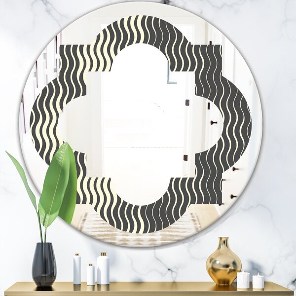 East Urban Home Quatrefoil Geometrical Abstract Minimal Pattern V Modern Frameless Wall Mirror Wayfair