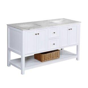 Chertsey Open Cabinet 60 Double Bathroom Vanity Set