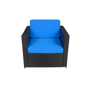 Vanderpol Wicker Patio Chair with Cushions