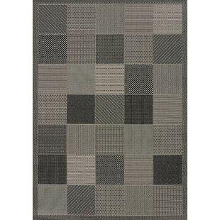 Solarium Gray Patio Block Indoor/Outdoor Rug ByUnited Weavers of America