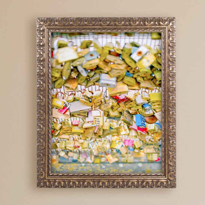 Trademark Art Paris Locks Love By Ariane Moshayedi Framed Photographic Print Wayfair