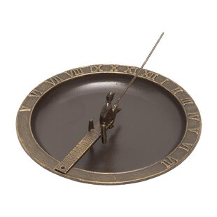Whitehall Products Fisherboy Sundial Birdbath