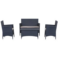 Wetherby Outdoor 4 Piece Deep Seating Group with Cushions