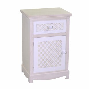 Stroud 1 Drawer Bedside Table By August Grove