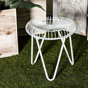 Bungalow Rose Gilpin Contemporary Round Iron Garden Stool