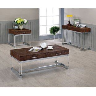 Maxwell 3 Piece Coffee Table Set