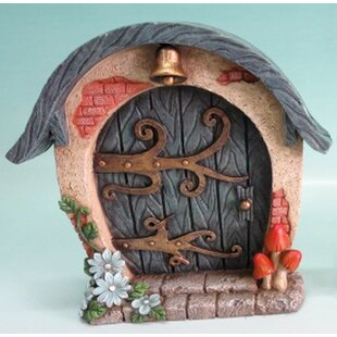 Fairy Mini Garden Door with Bell and Scroll by Hi-Line Gift Ltd.