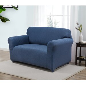 Box Cushion Loveseat Slipcover by Red ..