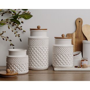 Black White Kitchen Canisters Jars You Ll Love In 2021 Wayfair