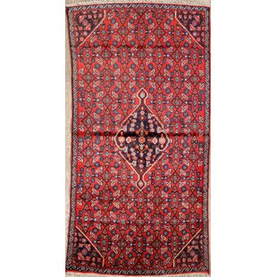One-of-a-Kind Gaither Classical Senneh Bijar Vintage Persian Hand-Knotted Runner 2'7 x 5'1 Wool Blue/Burgundy Area Rug Isabelline