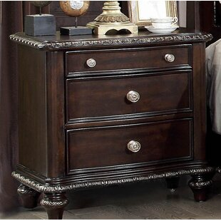 Cornelius 3 Drawer Nightstand by Fleur De Lis Living Discount