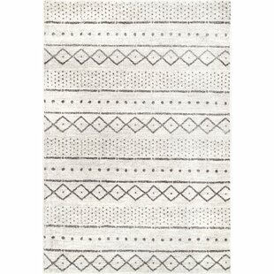 Best Price Januario Ivory/Black Area Rug By Union Rustic