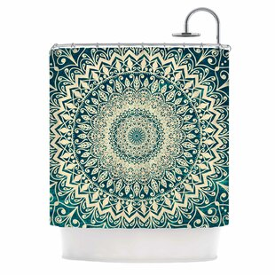 'Nature Boho Mandala' Illustration Single Shower Curtain