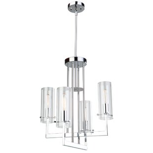 Orren Ellis Aqunita 4-Light Shaded Chandelier