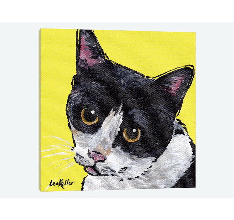 East Urban Home Cat Tuxedo By Hippie Hound Studios Graphic Art Print On Wrapped Canvas Wayfair