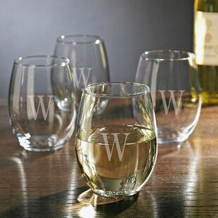 Personalized 21 oz. Stemless Wine Glass (Set of 4)