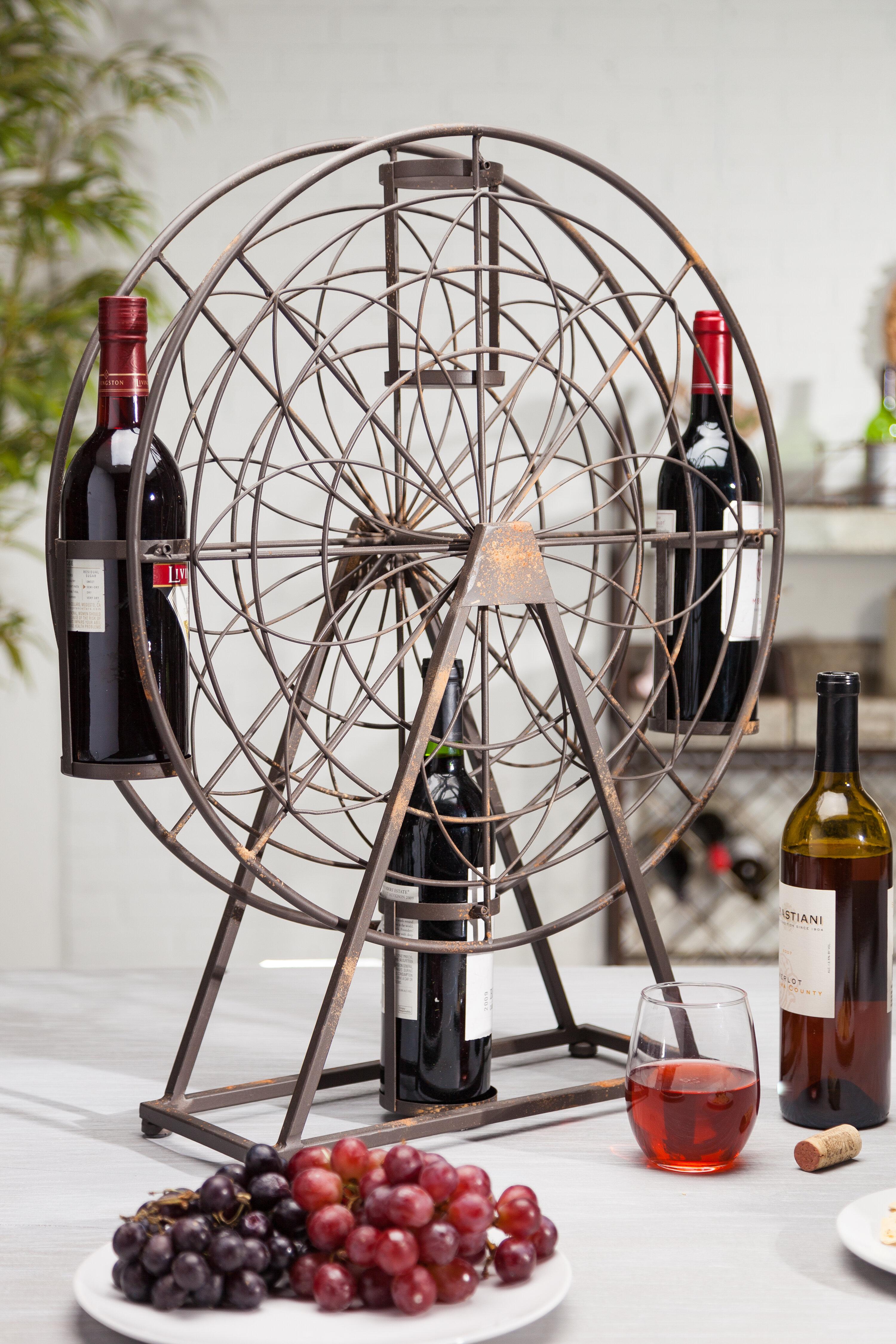 Deason Ferris Wheel 4 Bottle Tabletop Wine Rack