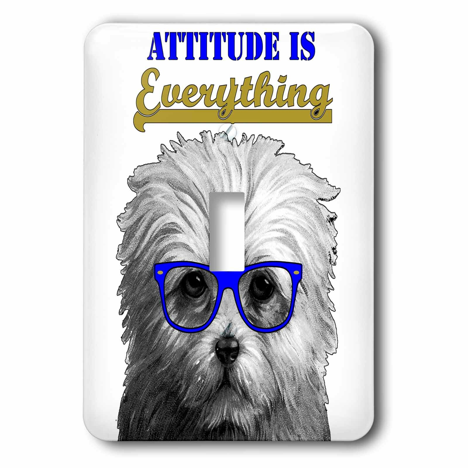 3drose Attitude Is Everything 1 Gang Toggle Light Switch Wall Plate Wayfair