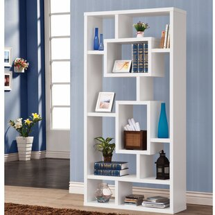 Safi Rectangular Geometric Bookcase by Turn on the Brights