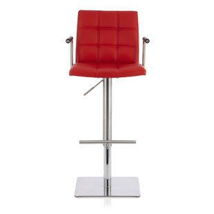 Henton Height Adjustable Swivel Bar Stool By Wade Logan