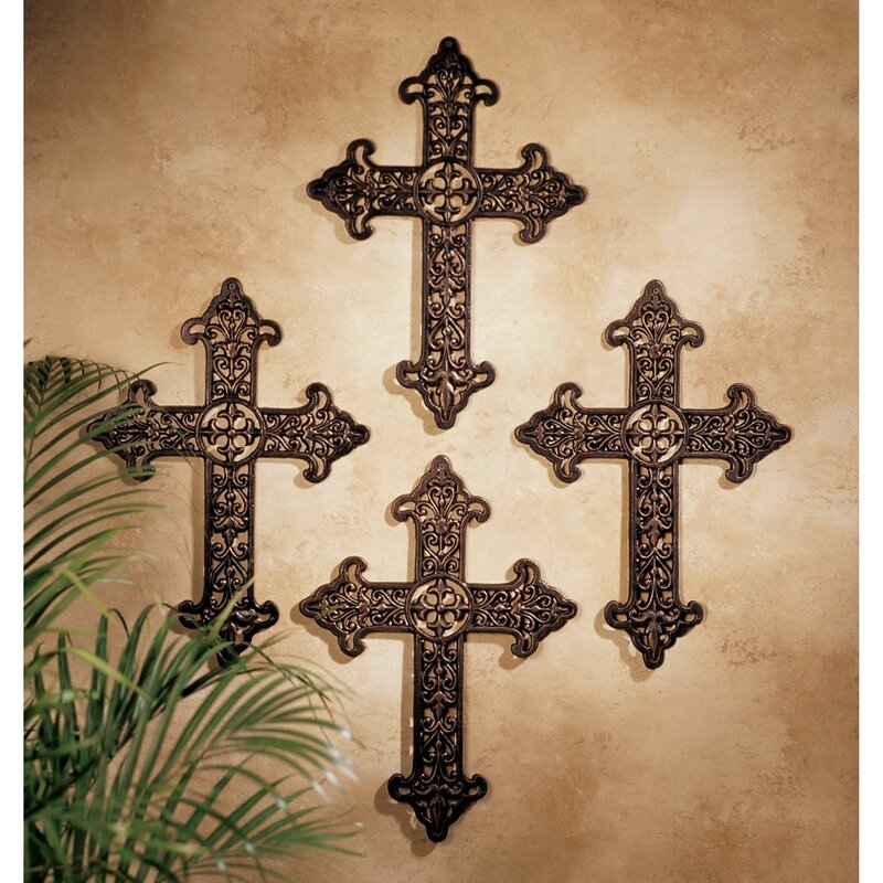 Fleur de Lis Cross Wall Décor - cross wall art