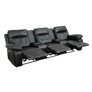 3 Seat Reclining Leather Home Theater Sofa