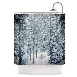 Winter Trials Single Shower Curtain