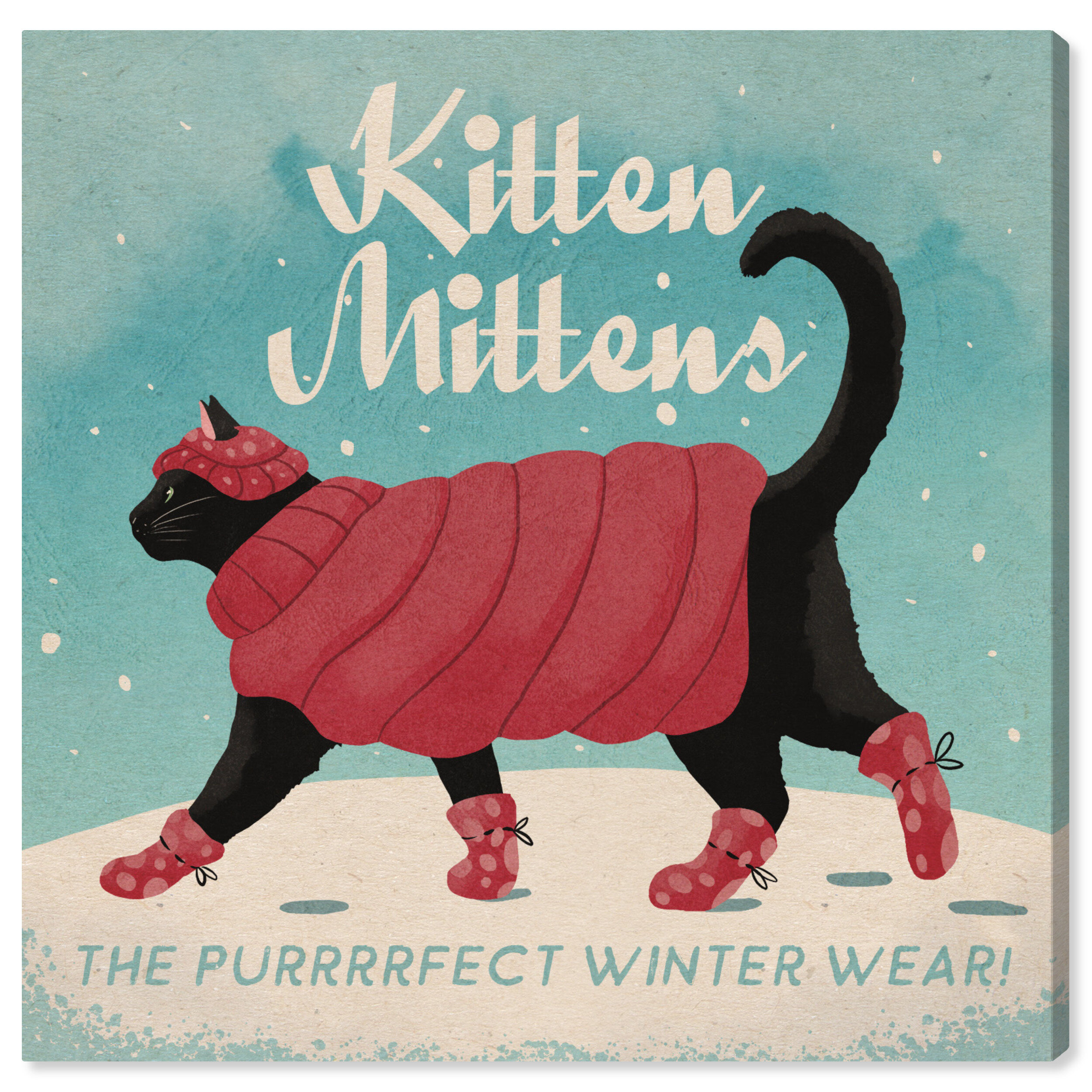 Wrought Studio Kitten Mittens Graphic Art On Canvas Wayfair Home of the original kitten mittens . kitten mittens graphic art on canvas
