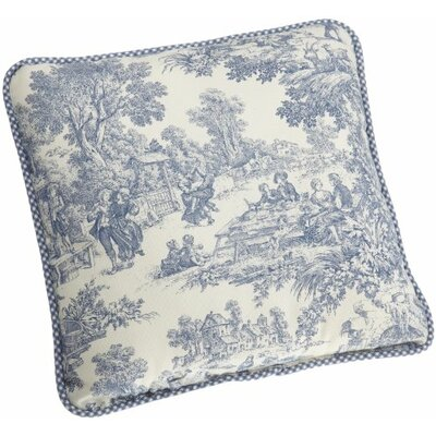 Lark Manor Gatineau 100% Cotton Throw Pillow Colour: Blue