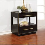 Daley 2 - Drawer Solid Wood Nightstand in Smoked Peppercorn by Everly Quinn