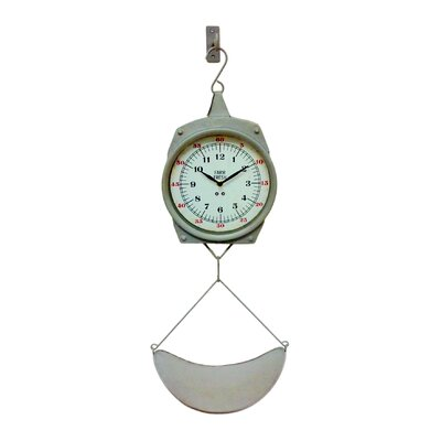 alexander metal hanging replica weight scale wall clock
