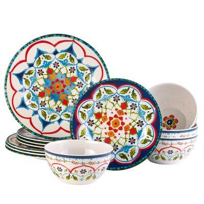 Aracieo Naples 12 Piece Melamine Dinnerware Set Service For 4 Bloomsbury Market Shefinds