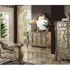 Perales 7 Drawer Combo Dresser with Mirror by Astoria Grand
