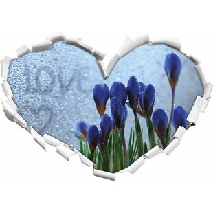 Spring Flowers Love Water Droplets Wall Sticker By East Urban Home