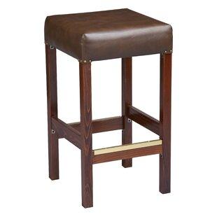 Amoroso Beechwood Square Backless Fully Upholstered Seat 30 Bar Stool Red Barrel Studio