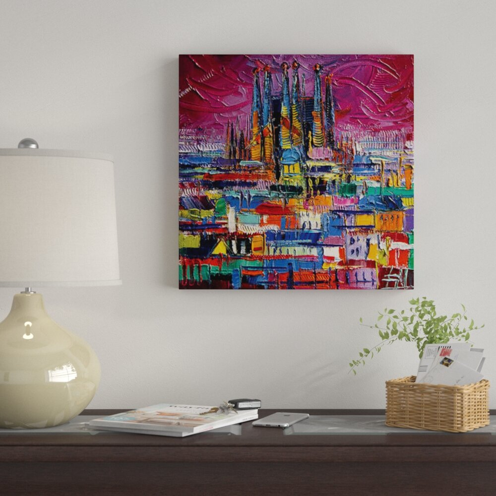 East Urban Home Barcelona Colors Print On Canvas Wayfair