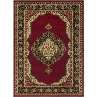 Best Reviews Marvin Dark Red/Black Area Rug By Charlton Home
